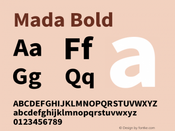 Mada Bold Version 1.004图片样张