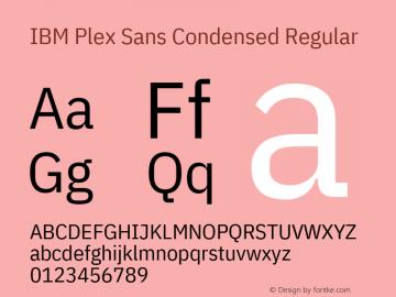 IBM Plex Sans Condensed Font Family IBM Plex Sans Condensed