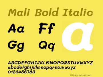 Mali Bold Italic Version 1.000; ttfautohint (v1.6)图片样张