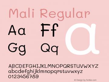 Mali Regular Version 1.000; ttfautohint (v1.6)图片样张