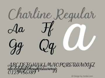 Charline Version 1.00;May 7, 2018图片样张
