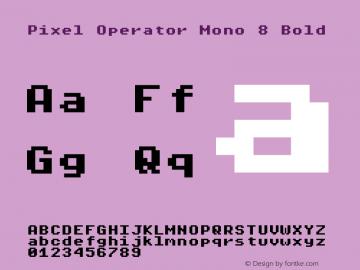 Pixel Operator Mono 8 Bold 2018.10.04-1图片样张