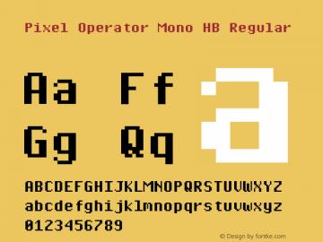 Pixel Operator Mono HB 2018.10.04-1图片样张