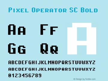 Pixel Operator SC Bold 2018.10.04-1图片样张