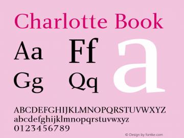 Charlotte Book Macromedia Fontographer 4.1 5/22/01 Font Sample