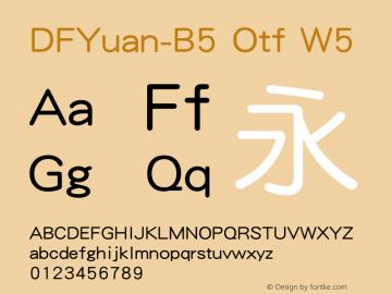 DFYuan-B5 Otf W5 图片样张