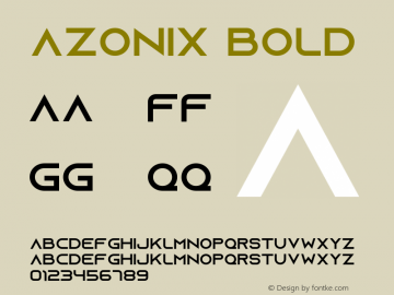 Azonix Font,Azonix Bold Font,AzonixBold Font|Azonix Bold