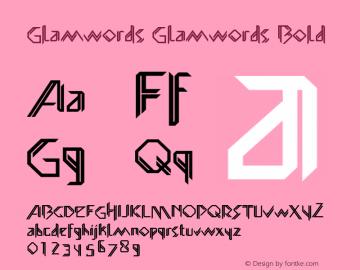 Glamwords-Bold Version 1.0图片样张