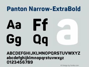 Panton Narrow ExtraBold Version 1.000图片样张