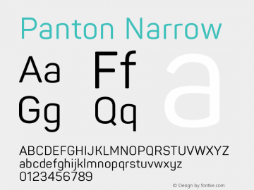 Panton Narrow Version 1.000图片样张