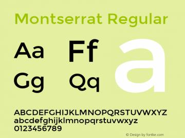 Montserrat Regular Version 2.001图片样张