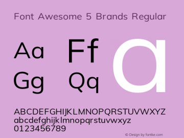 Font Awesome 5 Brands Regular 5.3 (build: 1535477188)图片样张
