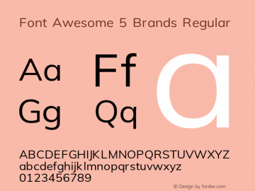 Font Awesome 5 Brands Regular 5.4 (build: 1539027173)图片样张