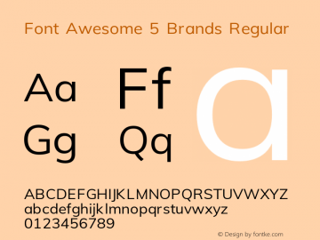 Font Awesome 5 Brands Regular 5.4 (build: 1539287270)图片样张