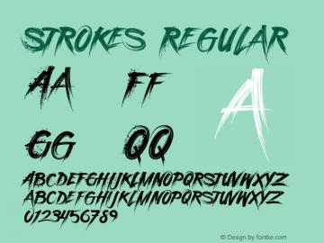 StrokesRegular Version 1.000图片样张