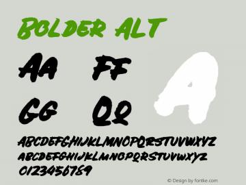 Bolder ALT Version 1.000 Font Sample