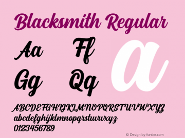 Blacksmith Version 1.000图片样张