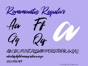 Rommantis Regular Version 1.000图片样张