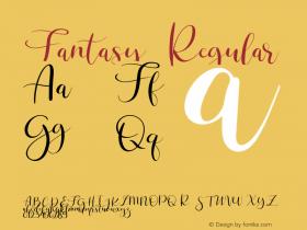 Fantasy Regular Version 1.000;PS 001.000;hotconv 1.0.88;makeotf.lib2.5.64775图片样张