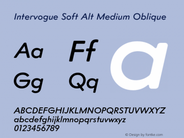 Intervogue Soft Alt Font Family|Intervogue Soft Alt