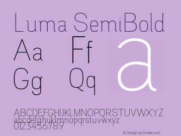 Luma SemiBold Version 1.000;PS 001.000;hotconv 1.0.88;makeotf.lib2.5.64775图片样张