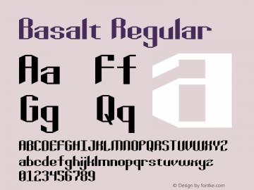 Basalt Regular Version 1.0图片样张