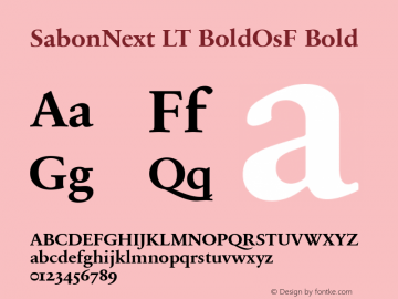 SabonNext LT Bold Old Style Figures Version 1.02;2005图片样张