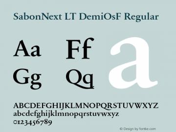 SabonNext LT Demi Old Style Figures Version 1.02;2005图片样张