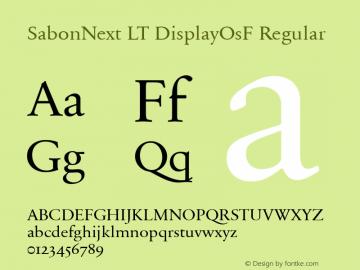 SabonNext LT Display Old Style Figures Version 1.02;2005图片样张