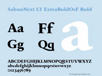 SabonNext LT Extra Bold Old Style Figures Version 1.02;2005图片样张