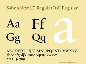 SabonNext LT Regular Old Style Figures Version 1.02;2005图片样张