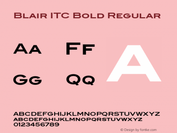 Blair ITC Bold Version 2.01图片样张