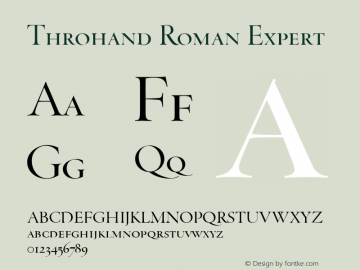 Throhand Roman Expert Version 1.000图片样张