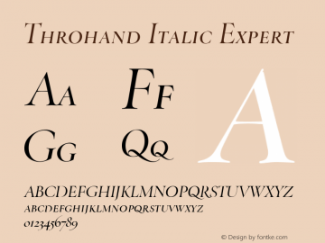 Throhand Roman Expert Italic Version 1.00图片样张