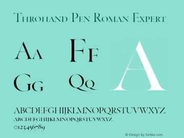 Throhand Pen Roman Expert Version 1.00图片样张
