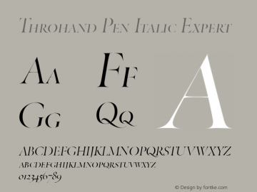 Throhand Pen Roman Expert Italic Version 1.00图片样张