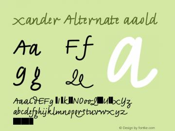 Xander Alternate Bold Version 1.00图片样张
