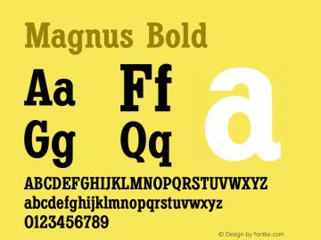 Magnus Bold Version 1.00图片样张