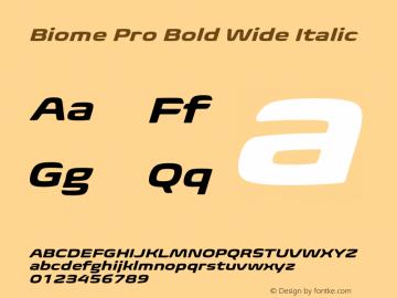 BiomePro-BoldWideIt Version 1.000图片样张