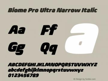 BiomePro-UltraNarrowIt Version 1.000图片样张