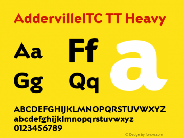 AddervilleITC TT Heavy Version 1.00图片样张