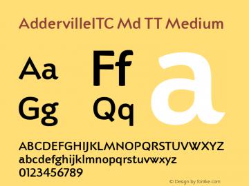 AddervilleITC Md TT Medium Version 1.00图片样张