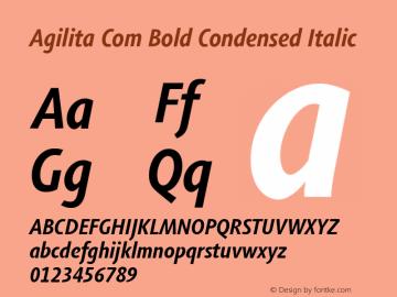 Agilita Com Bold Condensed Italic Version 1.02图片样张
