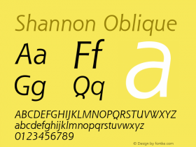 Shannon Oblique Version 1.00图片样张