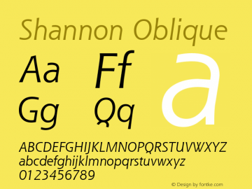 Shannon Oblique Version 1.00图片样张