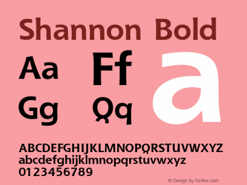 Shannon Bold Version 1.00图片样张