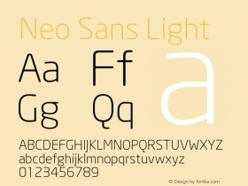 Neo Sans Light Version 1.00图片样张