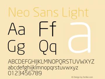 Neo Sans Light Version 1.00图片样张