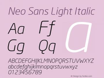 Neo Sans Light Italic Version 1.00图片样张