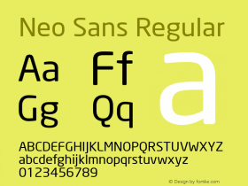 Neo Sans Version 1.00图片样张